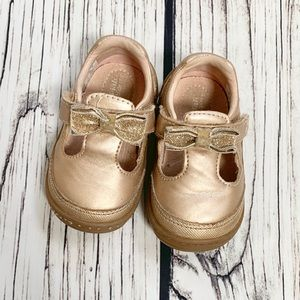 Stride Rite Surprize Gold Baby Shoes 4